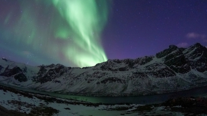 Winter dream in the Arctic: nordlys