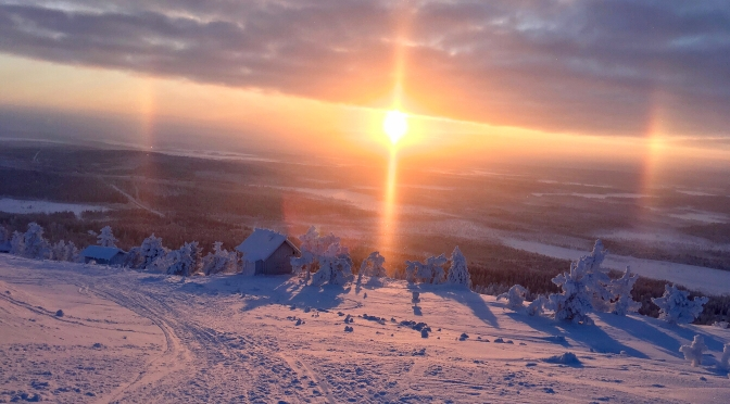 Sunset in Levi, Finland