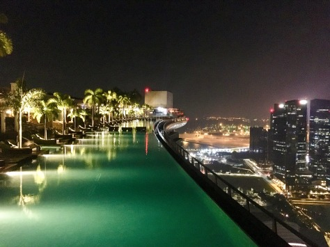 Marina Bay Sands, infinity pool, Singapore, Asia