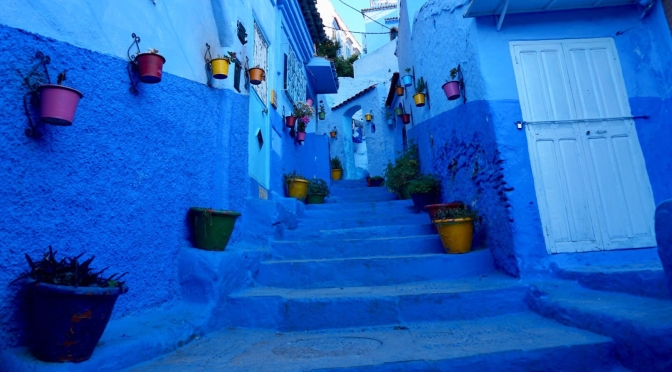 Morocco: blue memories of a perfect day