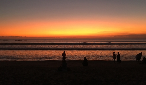 Sunset in Kuta, Bali, Indonesia