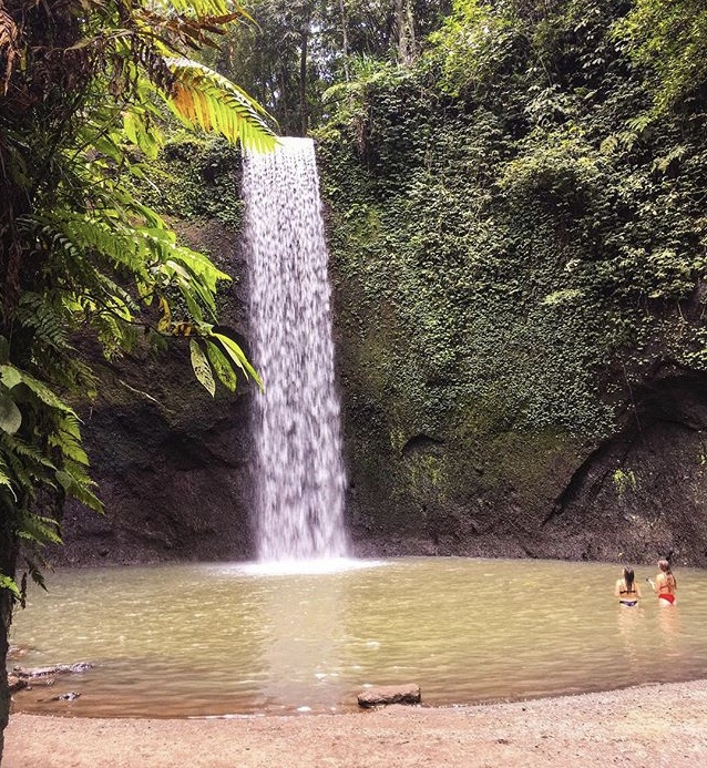 Extotic waterfall in Bali, Tibumana waterfall