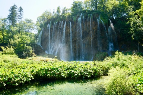 Waterfall in Plitvice Lakes, Croatia