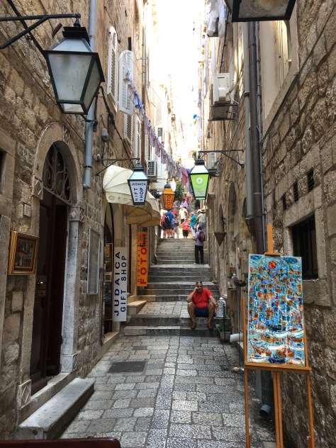 Croatia, Dubrovnik, stairs in Old City