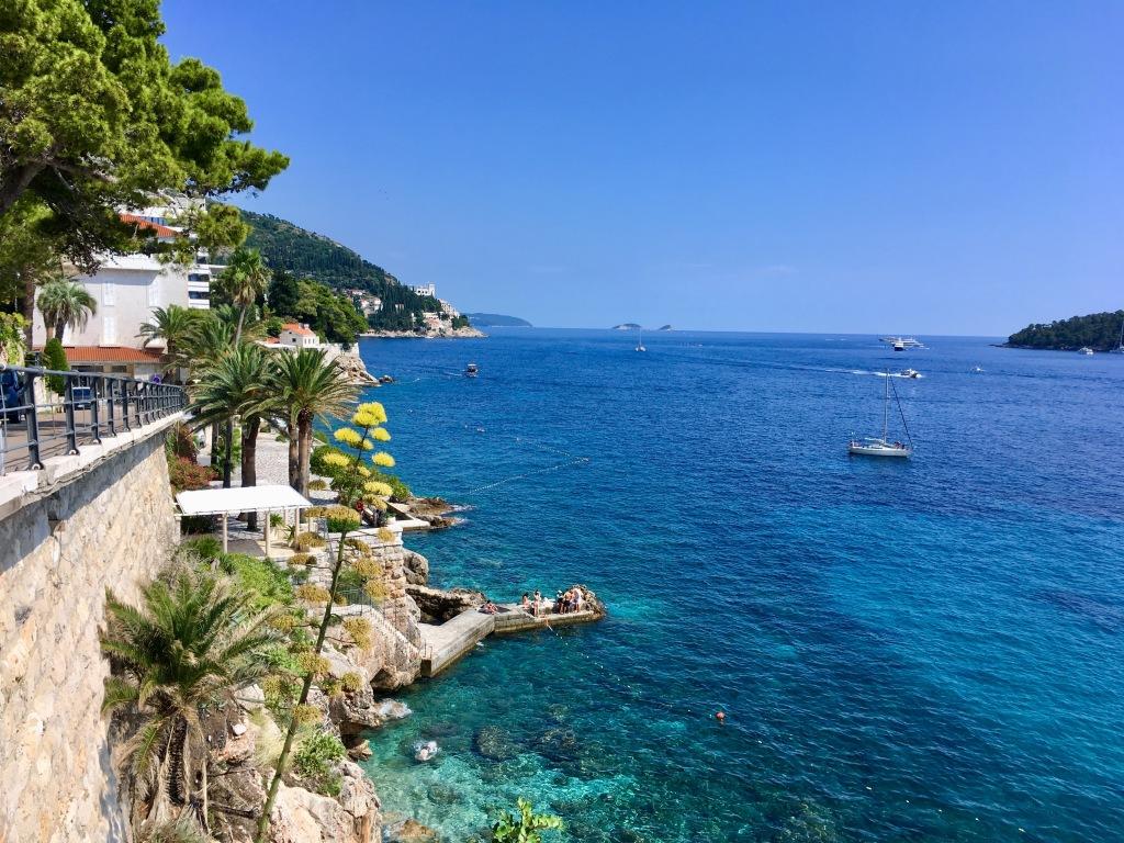 Dubrovnik, Croatia, sea view, Banje Beach