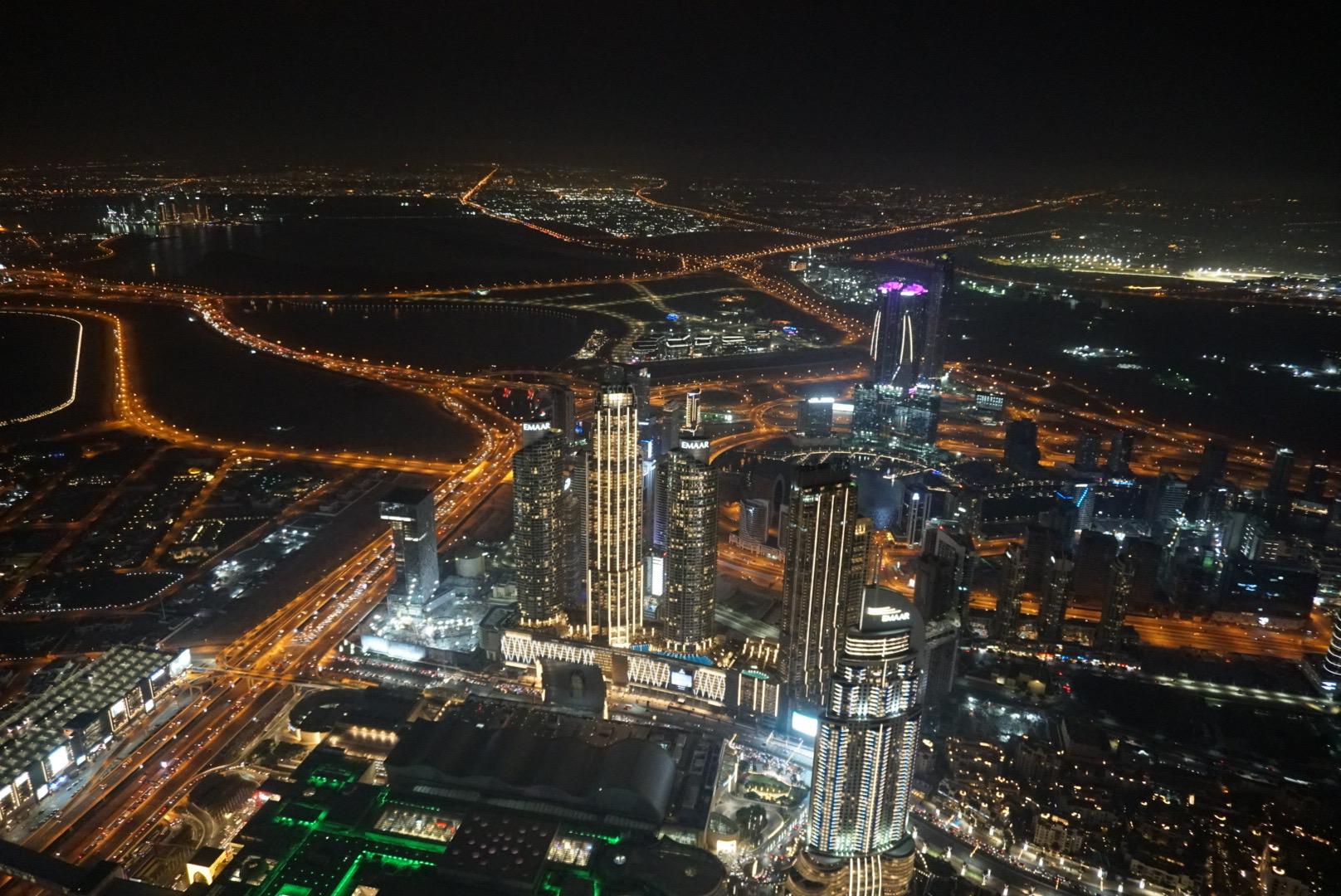 At The Top, Burj Khalifa, Dubai city lights