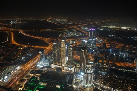At The Top, Burj Khalifa, Dubai city lights
