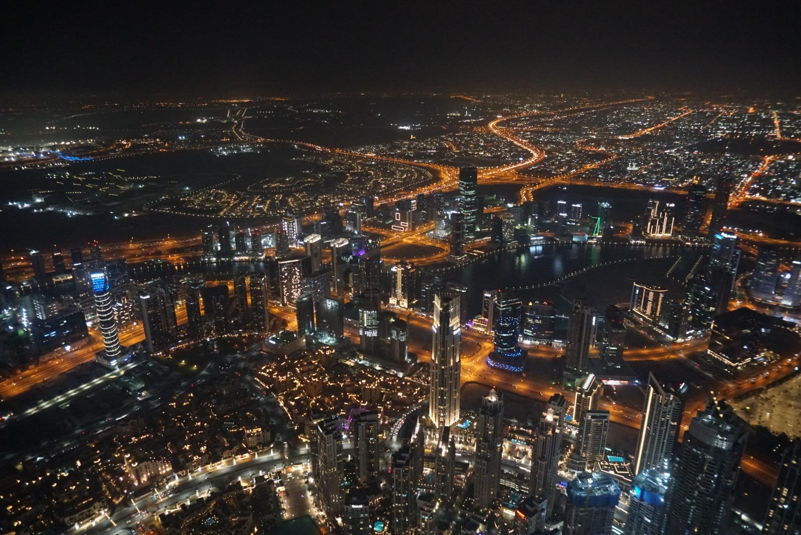 At The Top, Burj Khalifa, downtown Dubai by night