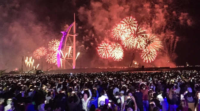 Dubai – New Years Eve on the beach