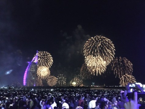Dubai New Years Eve, fireworks, Burj Al Arab