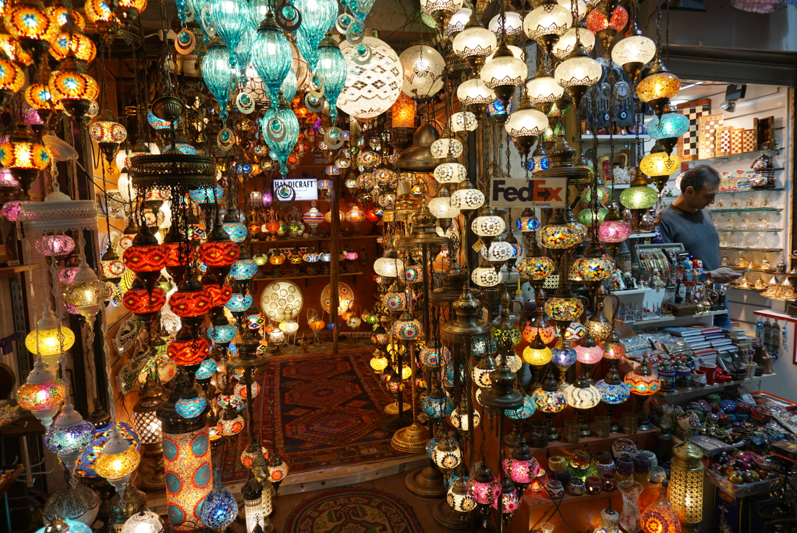 The Grand Bazar, Istanbul, Turkish lamps