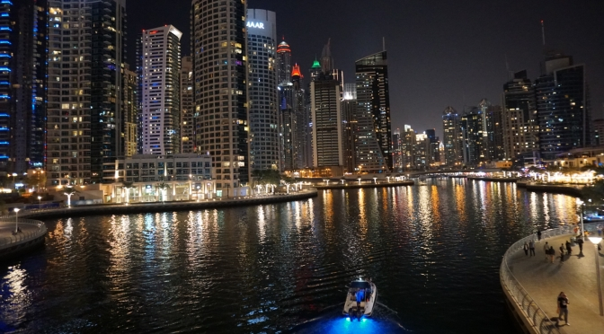 Dubai Marina night view