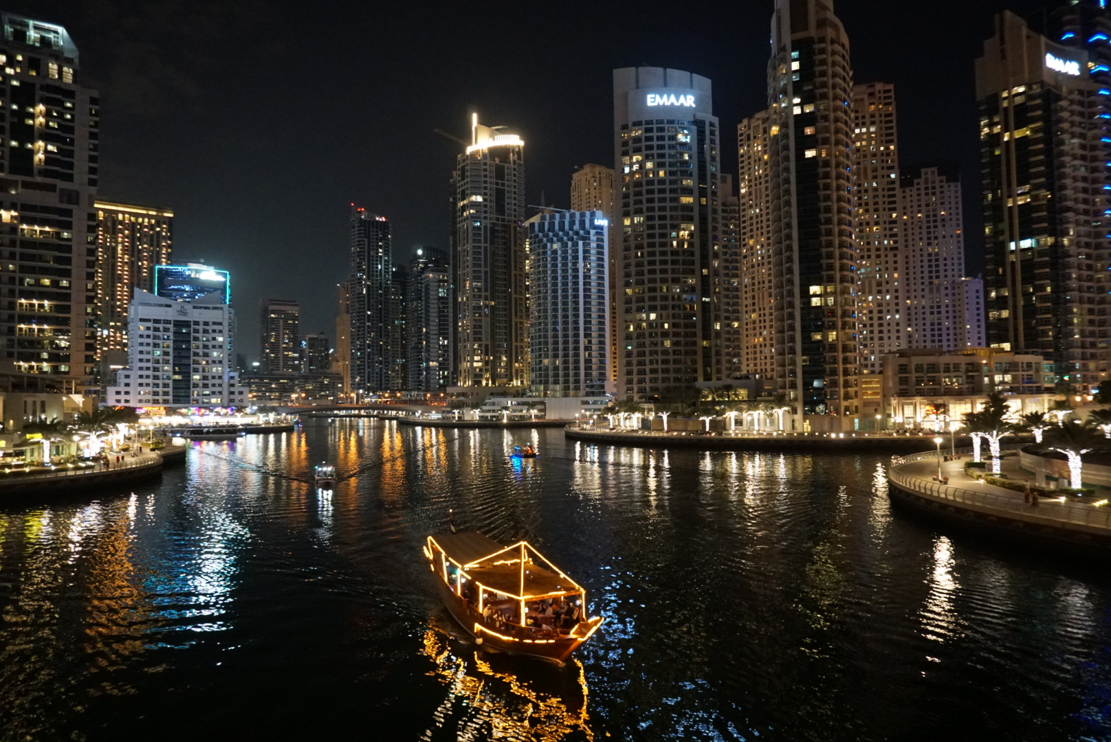 Dubai Marina view by night