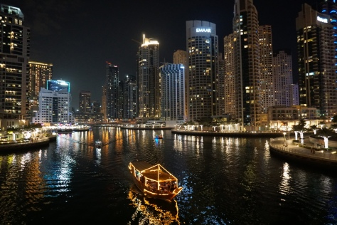 Dubai Marina view by night