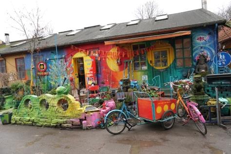 Christiania, free town in Copenhagen