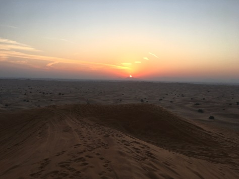 Dubai, sunrise in the desert