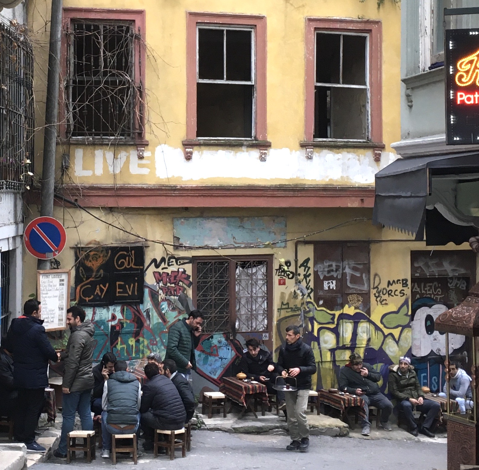Men at bar in Karakoy neighbourhood, Istanbul