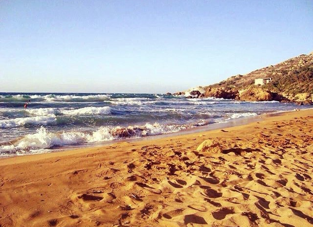 Ramla Beach on Gozo island, Malta