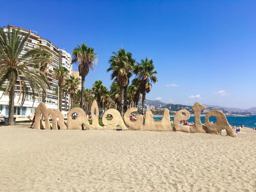 La Malagueta Beach, Malaga, Spain